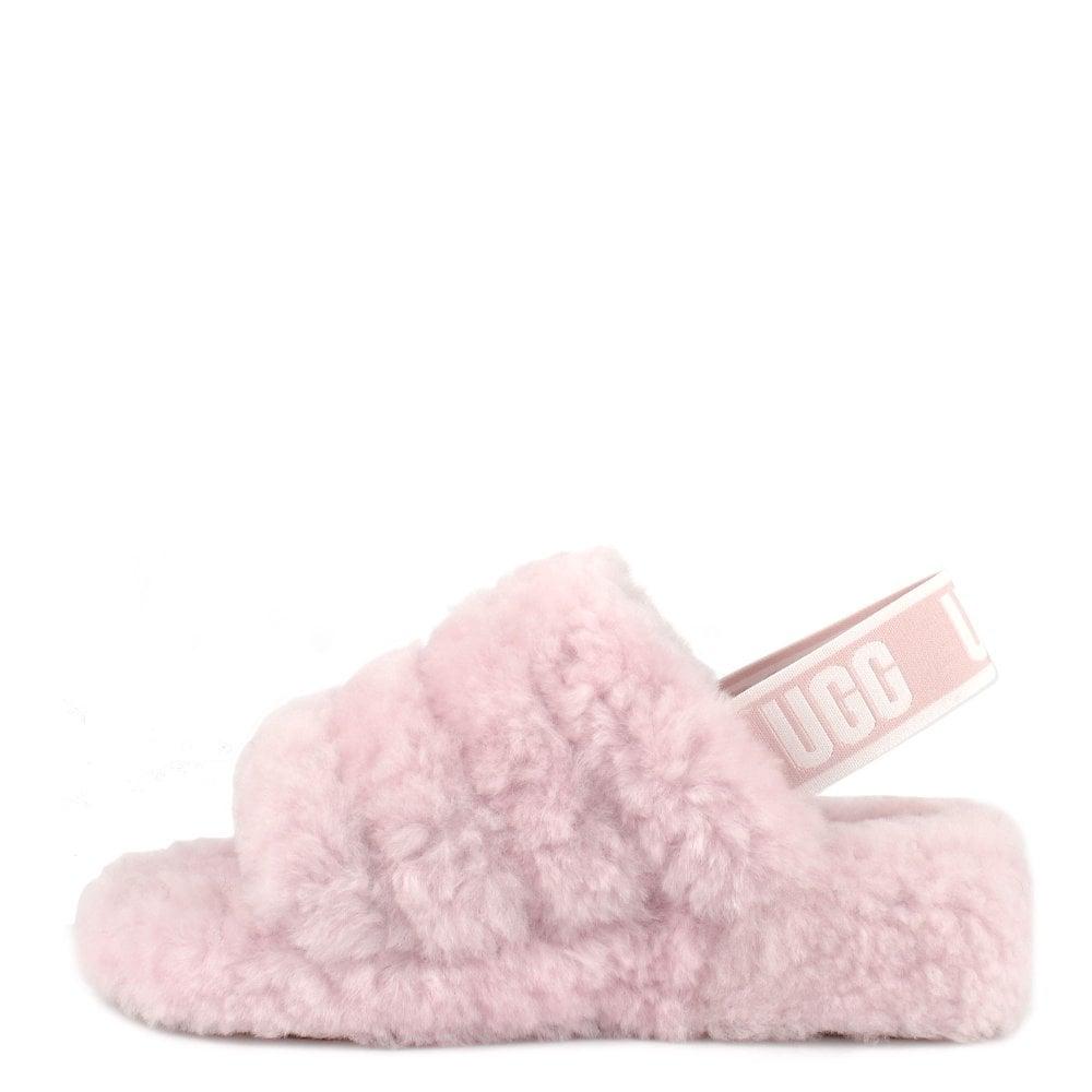 a8af305a460 Fluff Yeah Seashell Pink Logo Slide Sandal