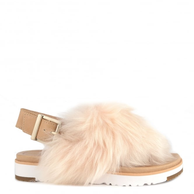 UGG Holly Soft Ochre Fluffy Sandal