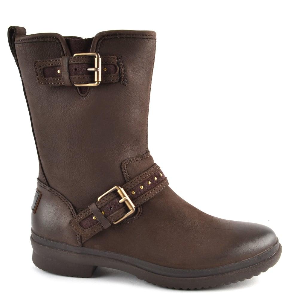 Ugg Jenise Stout Brown Rain Boot