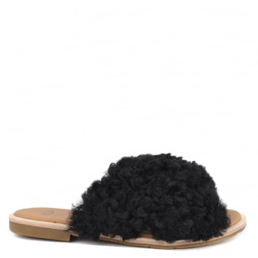 Joni Black Slide Sandal