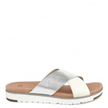 Kari Metallic Silver Slide