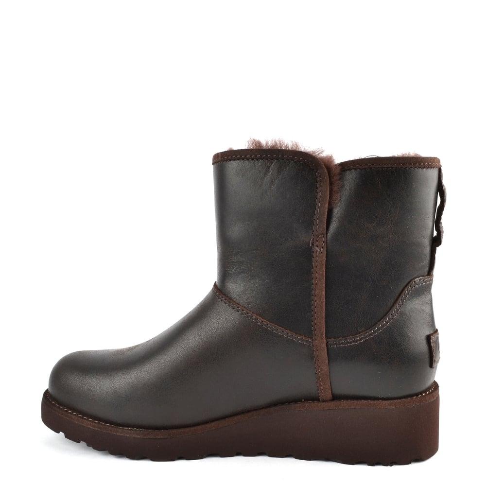 75b400590c6 Kristin Classic Slim Stout   039 Brown  039  Leather Sheepskin Boot