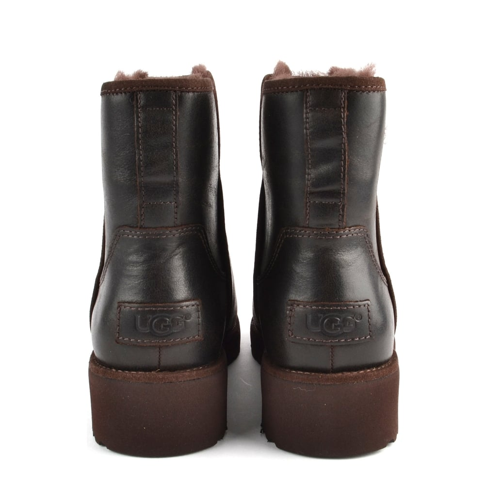 75b400590c6 Kristin Classic Slim Stout   039 Brown  039  Leather Sheepskin Boot
