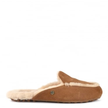 Lane Chestnut Suede Slip On Loafer