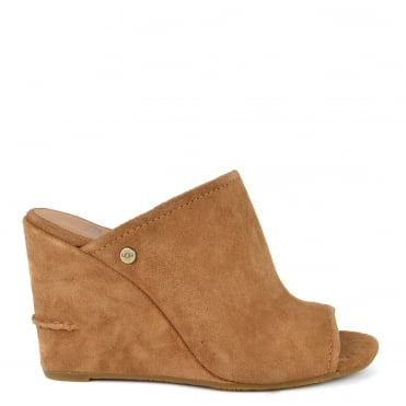 Lively Chestnut Suede Wedge Sandal