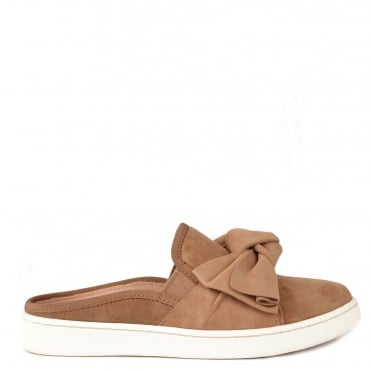 Luci Chestnut Suede Bow Slip On Trainer