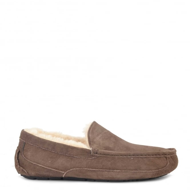 UGG Mens' Ascot Espresso 'Brown' Suede Slipper