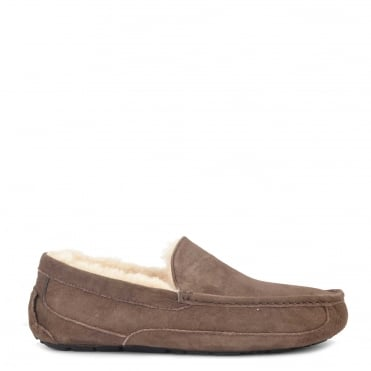 Mens' Ascot Espresso 'Brown' Suede Slipper
