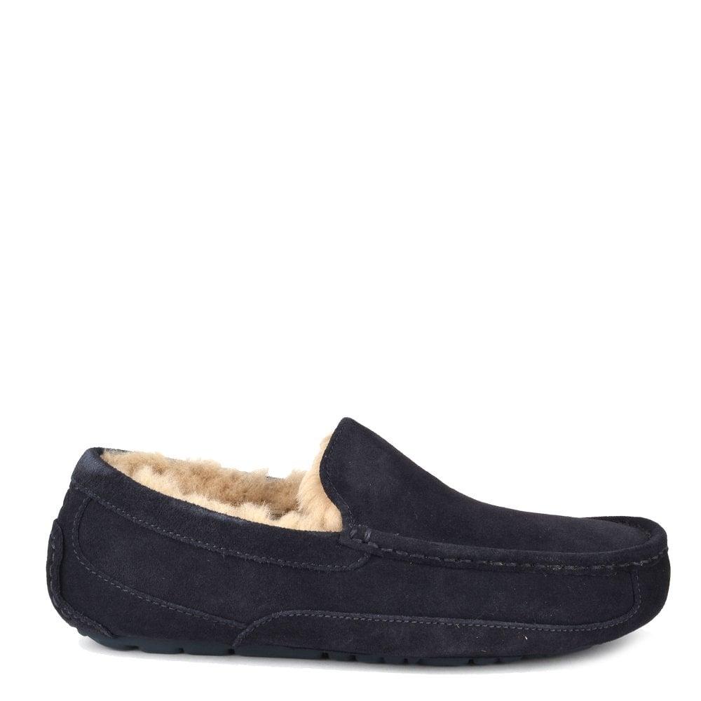 d36f339ac12 Shop The UGG Mens  Ascot True Navy Suede Slipper