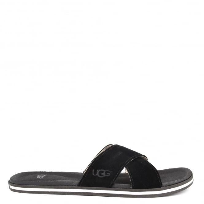cafa9b0555b Mens' Beach Black Suede Slides