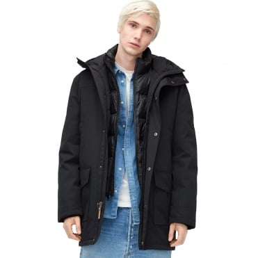 Mens' Butte Black Parka