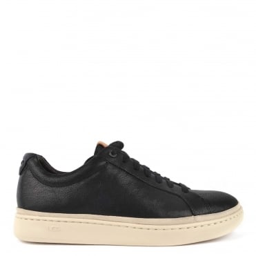 Mens' Cali Black Leather Low Top Trainer