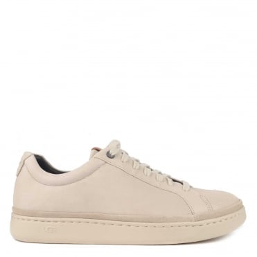 Mens' Cali Parchment Leather Low Top Trainer