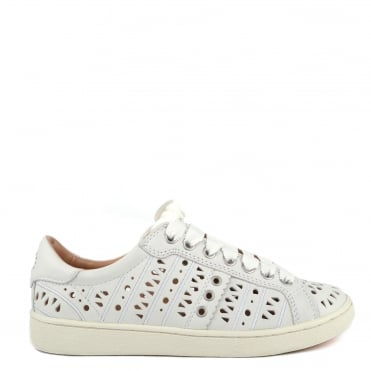 Milo White Perforated Trainer