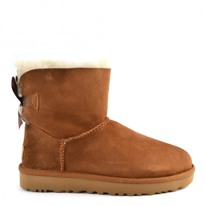 UGG Mini Bailey Bow II Chestnut Suede Boot