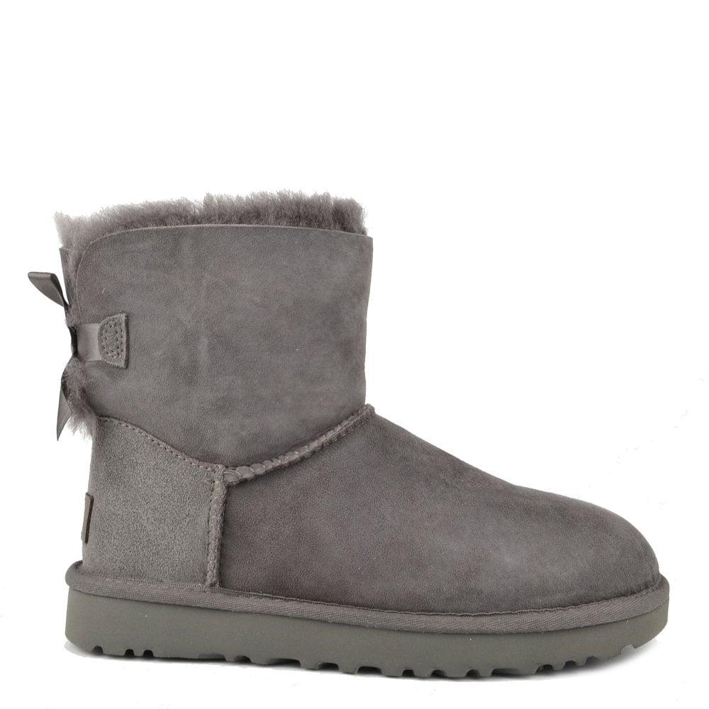6025ff117f9 Mini Bailey Bow II Grey Suede Boot