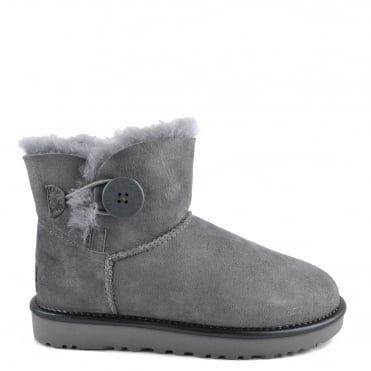 Mini Bailey Button II Metallic Geyser Suede Boot
