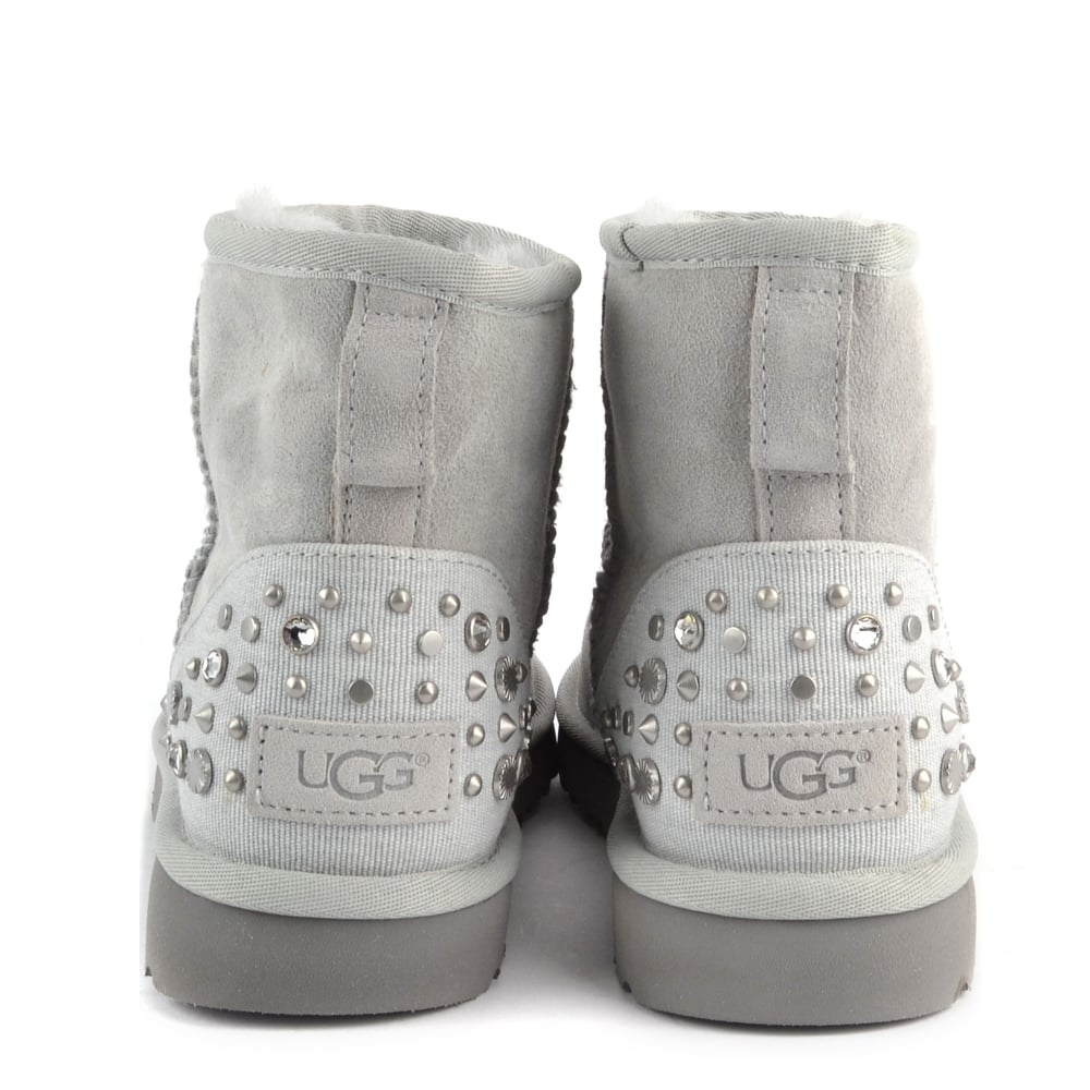 ba1ac0845f3 Mini Studded Bling Grey Suede Boot