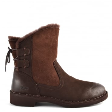 Naiyah Stout 'Brown' Suede Ankle Boot
