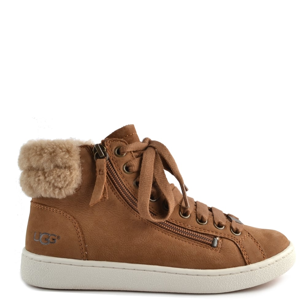 UGG Suede Olive High Top Trainer in
