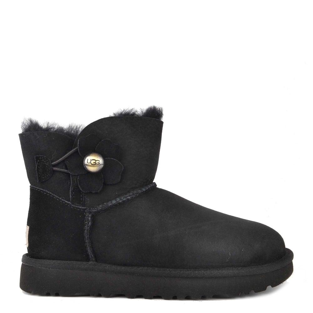 ugg poppy black mini bailey button boot rh brandboudoir com ugg women's bailey button casual boots - black ugg bailey bling swarovski button boots black
