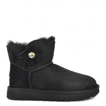 Poppy Black Mini Bailey Button Boot