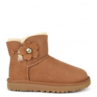 Poppy Chestnut Mini Bailey Button Boot