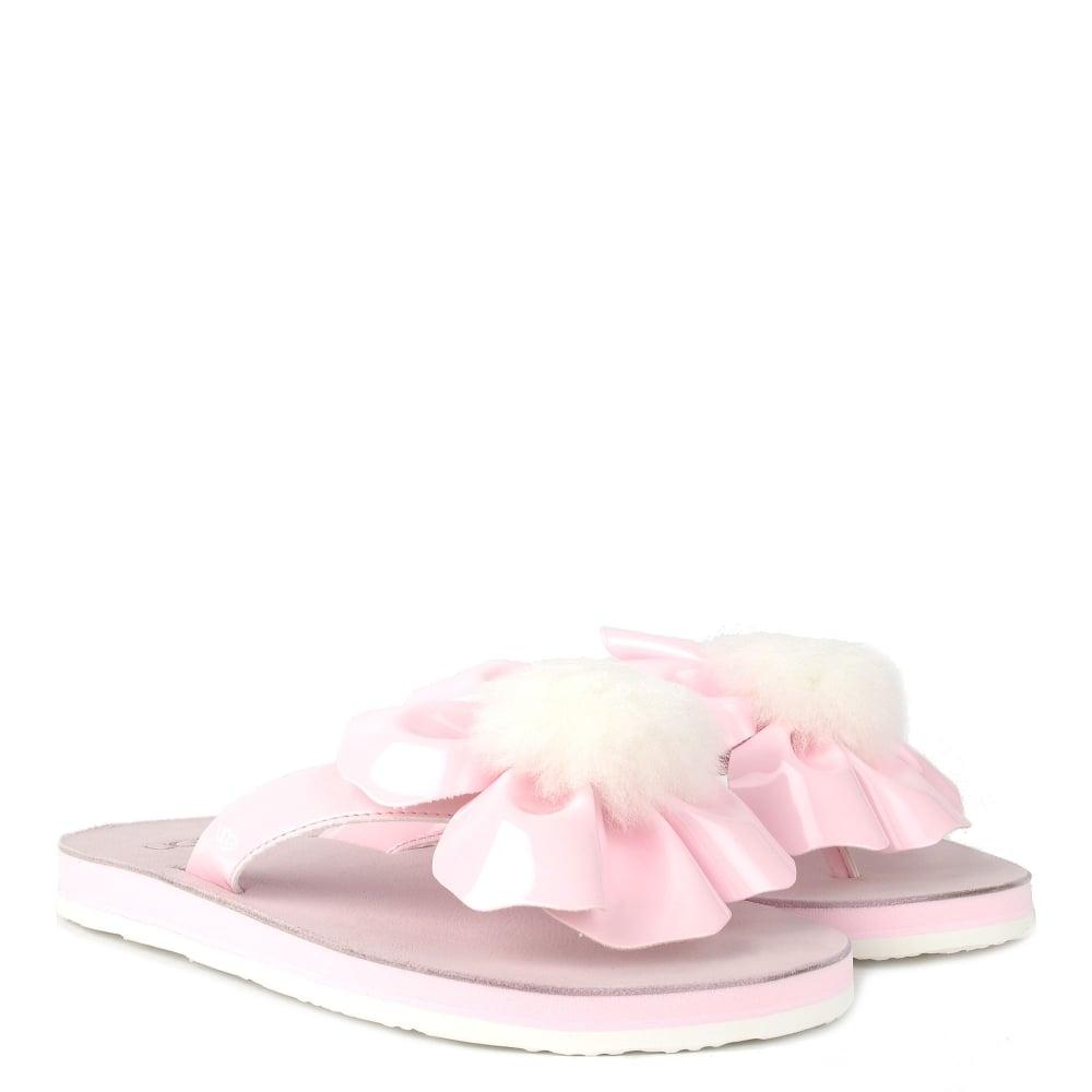76a1165c5b3 Poppy Seashell Pink Flower Flip Flop