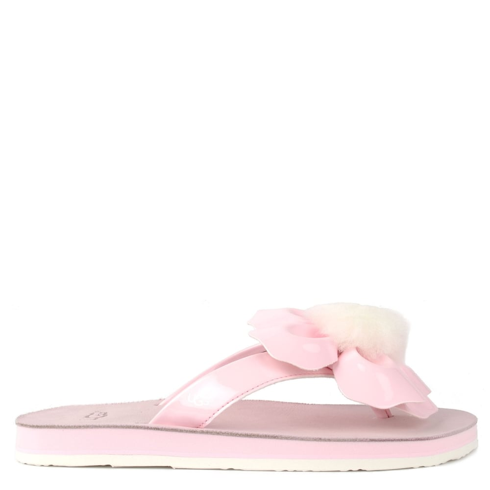 Poppy Seashell Pink Flower Flip Flop