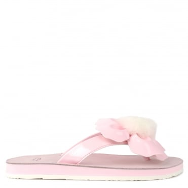 Poppy Seashell Pink Flower Flip Flop