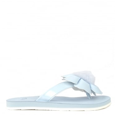 Poppy Sky Blue Flower Flip Flop