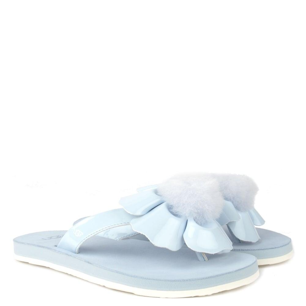Ugg Poppy Sky Blue Flower Flip Flop