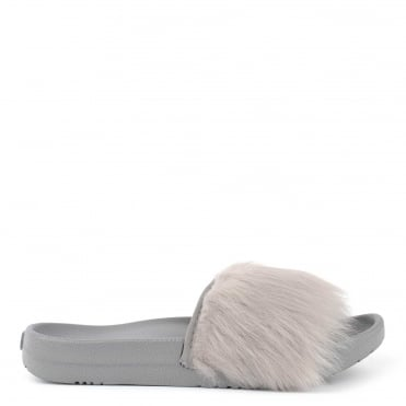 Royale Seal 'Grey' Fluffy Slide