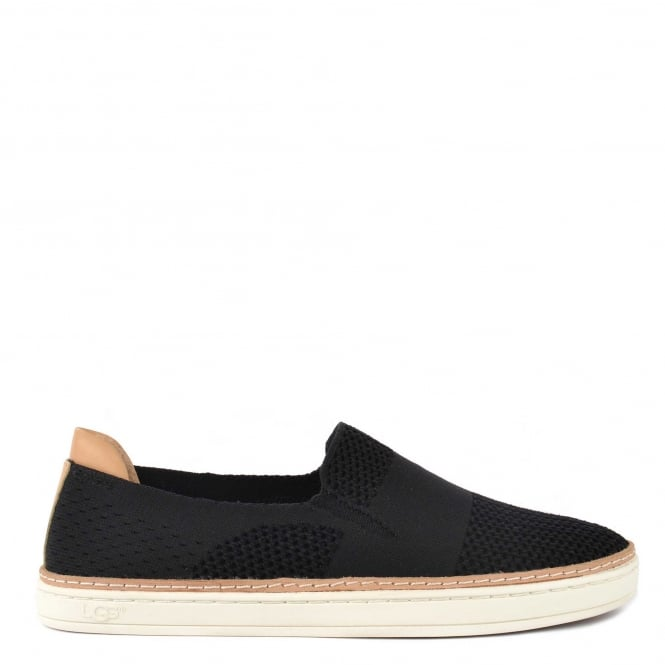 UGG Sammy Black Knit Slip On Trainer