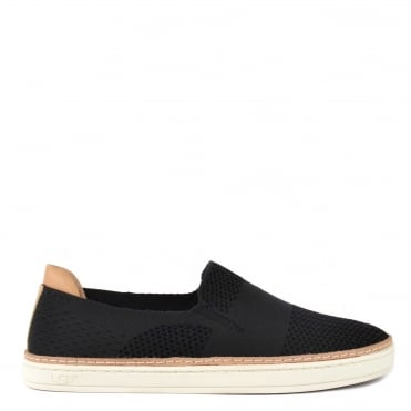 Sammy Black Knit Slip On Trainer