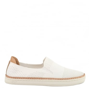 Sammy White Knit Slip On Trainer