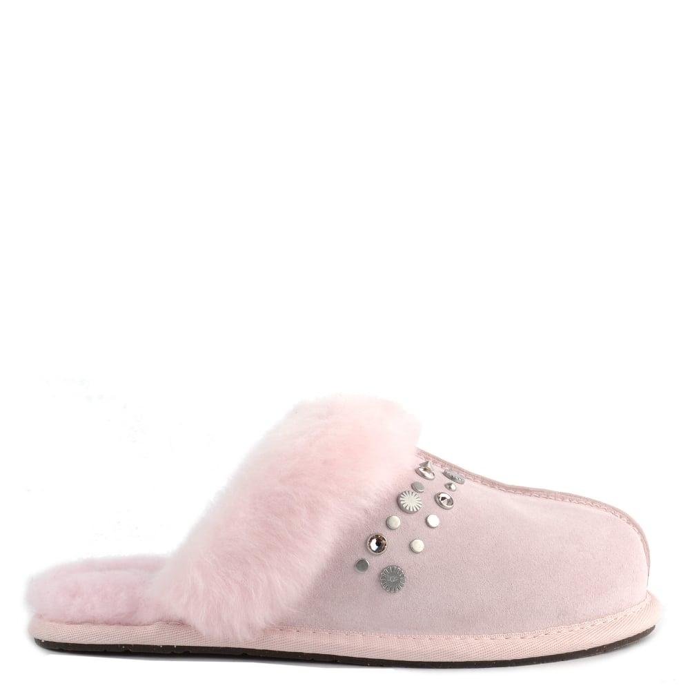 348981e1026b16 UGG Scuffette II Seashell Pink Bling Studded Slipper