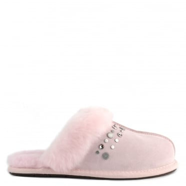 Scuffette II Seashell Pink Bling Studded Slipper