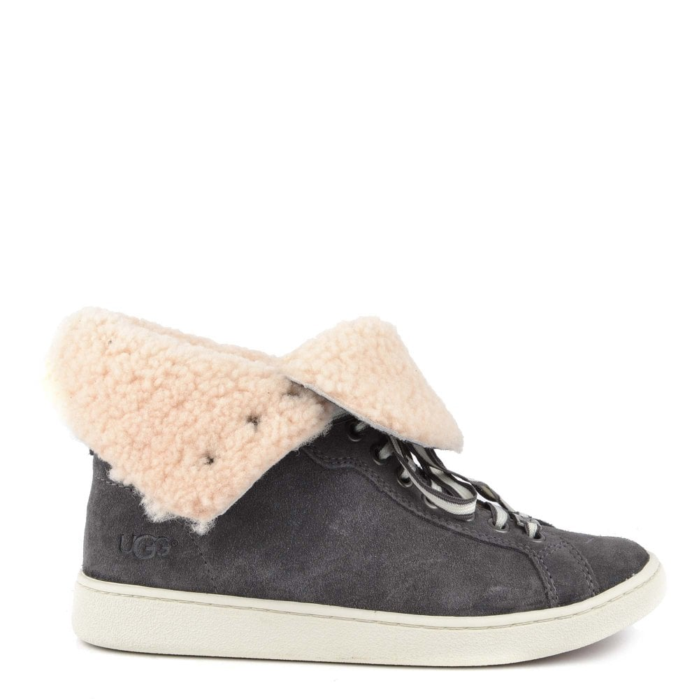 26913923d02 Starlyn Charcoal Suede Sheepskin Trainer