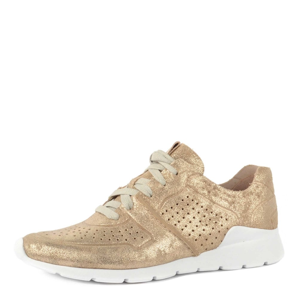 b661a5e0a61 UGG Tye Stardust Gold Leather Trainer
