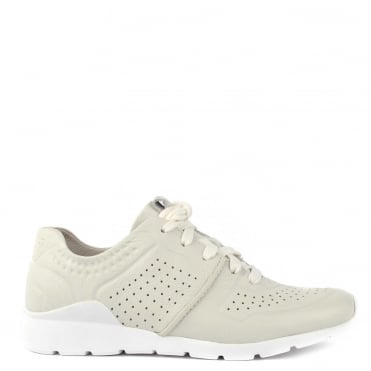 Tye White Nubuck Trainer